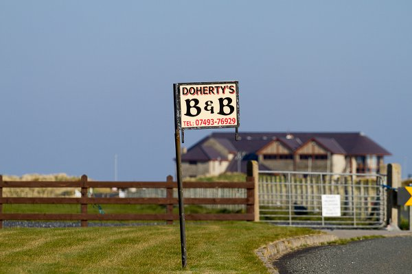 A very short stroll from our b&b to Ballyliffin Golf Course...